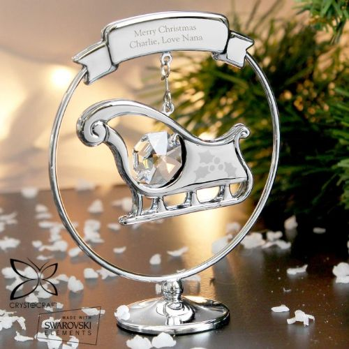 Personalised Crystocraft Sleigh Ornament